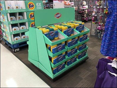 Clorox Half-Height Corrugated Display Trapezoid
