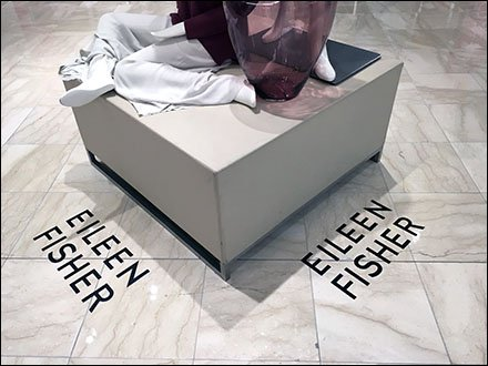 Eileen Fisher Floor Graphic Goes Omni-Directional