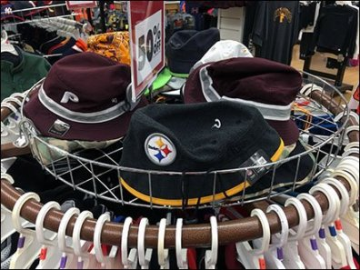 Fenced Circular Cap Rack In Apparel 1