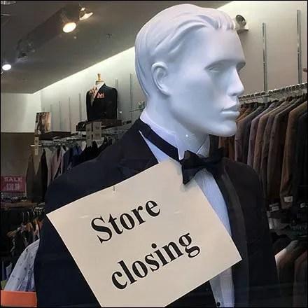 Ultimate Black-Tie Formal Store Closing