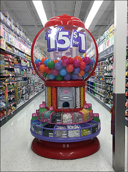 Giant Gumball Machine Vends 15 for $1