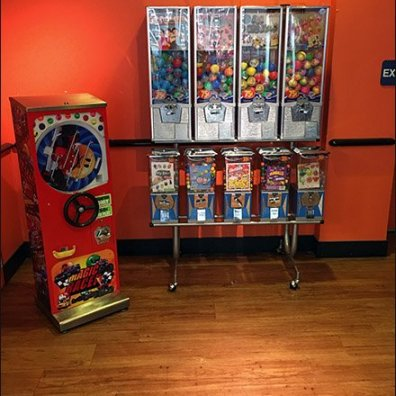 Double Bank Gumball Machine Dual Merchandising