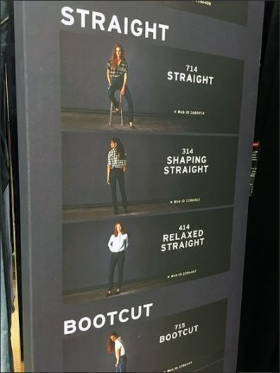 Levis Denim Sizing Vertical Sign 5