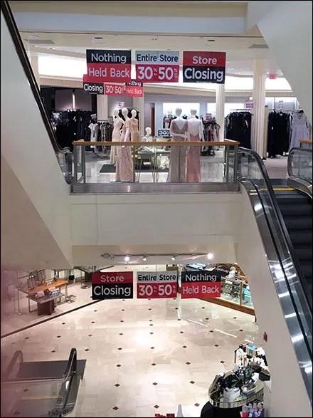 Saks Store Closing Signage At Short Hills Mall
