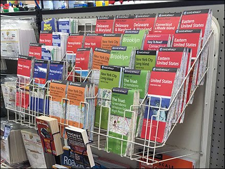 Comprehensive Travel Map Merchandising Rack