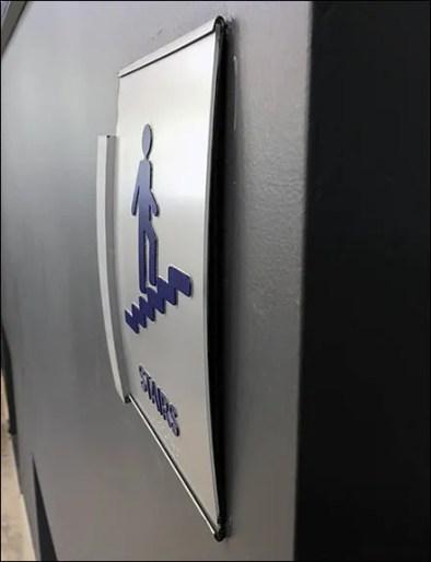 Mercedes Benz Manhattan C-Channel Stair Sign 3