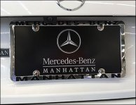 Mercedes Benz Manhattan Branded License Plate Frame