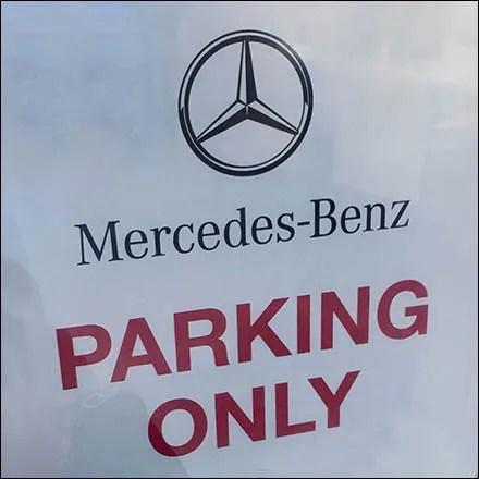 Mercedes Benz Manhattan MB Parking Only Feature