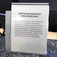 Mercedes Benz Manhattan Return Policy Feature