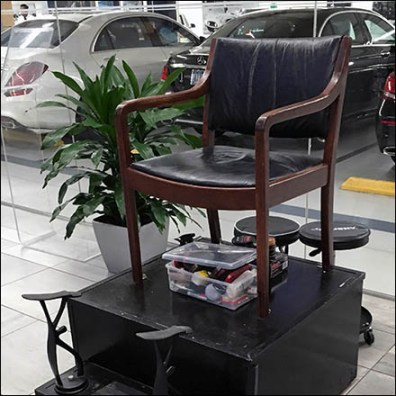 Mercedes Benz Manhattan Shoeshine Stand Feature