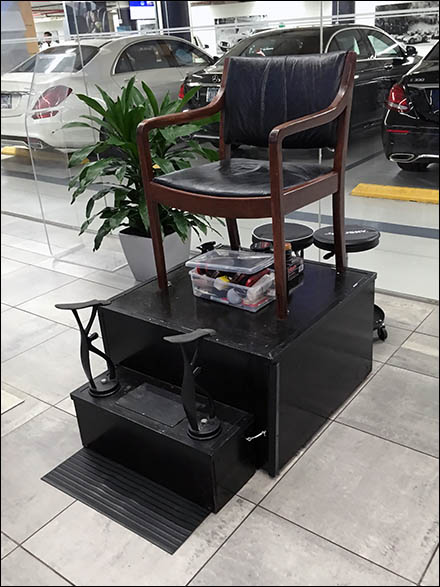 Mercedes Benz Manhattan Shoeshine Station 2