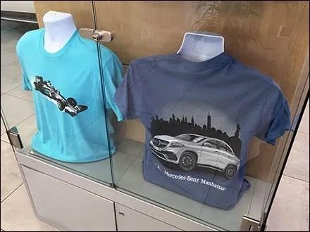 Mercedes Benz Manhattan Bias Relief T-Shirt Display