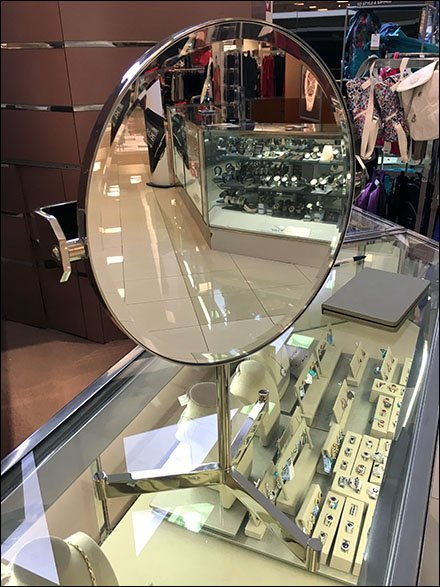 Chrome Tripod Mirror Outfits Jewelry Counter
