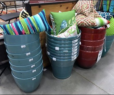 Patio Furniture Pillow Planter Display Main
