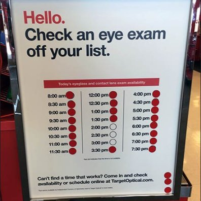 Schedule Your Eye Exam At The Door Main