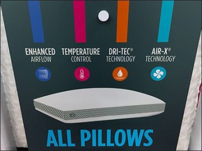 Sleeps Power of the Pillow Rack Aux