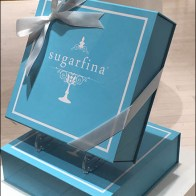 Sugarfina Beribboned Baby Blue Box Pedestaled