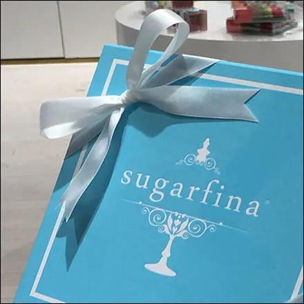 Sugarfina Beribboned Baby Blue Box Pedestaled