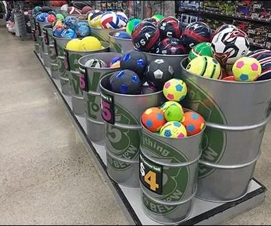55 Gallon Drum Bulk Bin Barrels for Balls