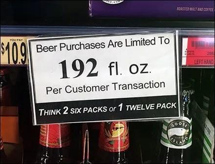 For Beer, Consider Six-Packs Or Twelve-Packs