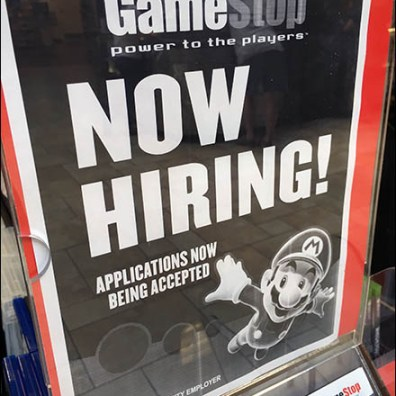 High-Flying Mario Brothers Now Hiring At GameStop