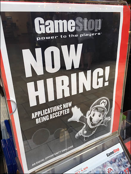 High-Flying Mario Brothers Now Hiring At GameStop – Fixtures