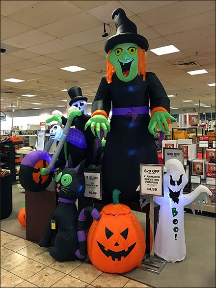 Halloween Inflatables Merchandised En Masse