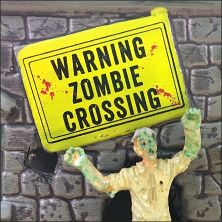Spookytown Halloween Village Zombie Crossing