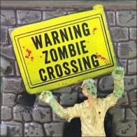 Spookytown Halloween Village Zombie Crossing