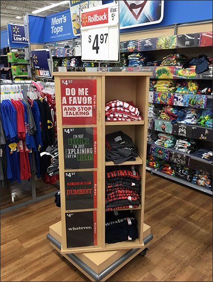 T-Shirt Spinner Rack With Wrap-Around Bumper Guards