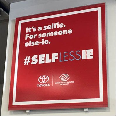 Toyota Selfie-For-Someone-Else-ie Hashtag Campaign
