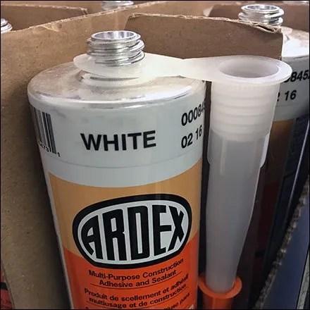 Ardex Adhesive Knock-Down ShipperBreakthrough