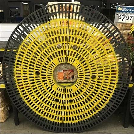 Circular Dunnage Rack As Fall Visual Merchandising Art
