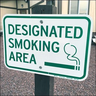Designated Outside Smoking Area Defined