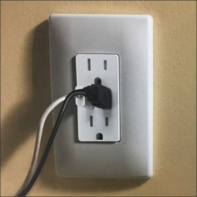 Electrical Outlet Charging Port Display