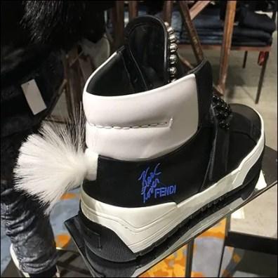 Fendi Karl Lover Mohawk Sneaker Pedestal