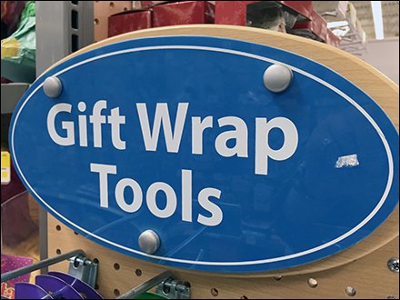 Gift Wrap Tools Pegboard PowerWing