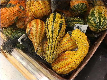 Mesh Bag Merchandising Miniature Gourds