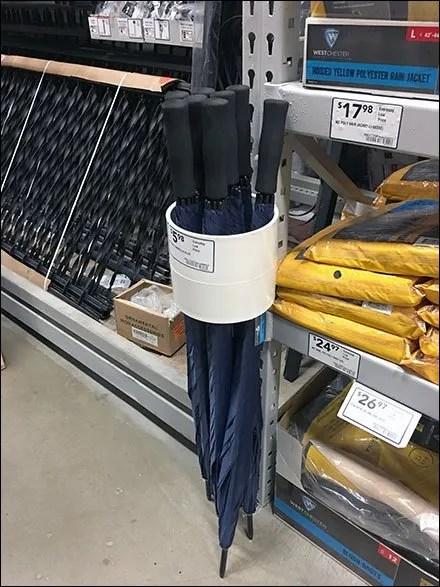 Large-Diameter PVC Umbrella Quiver