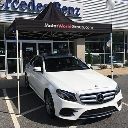 Tent Merchandising and Tent Store Fixtures - Mercedes Benz Tent Sale