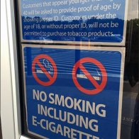No Smoking … Including No Vaping In-Store