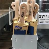 Paint Brush Strip Merchandiser for Pallet Rack