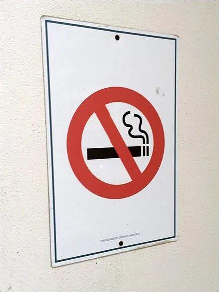 Tysons Mall No Smoking Here Designation