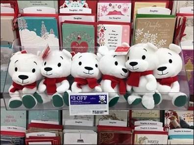Acrylic Sidecar Shelf For Plush Christmas Bear