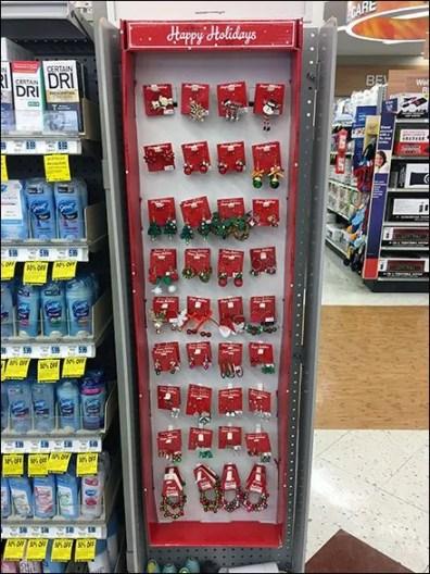 Corrugated Christmas Earring PowerWing PrePack Display