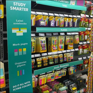 Category Definition By Color Label Strip