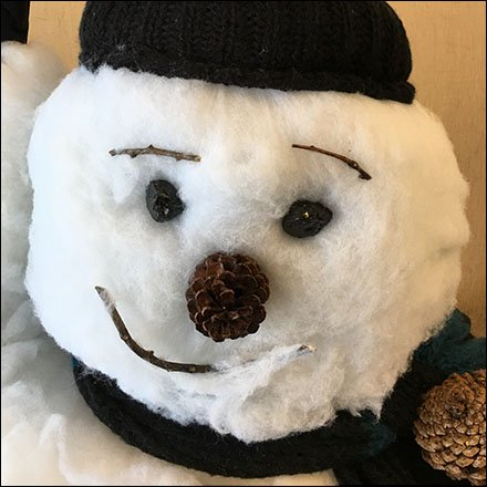 Do-It-Yourself Cotton-Ball Winter Snowman
