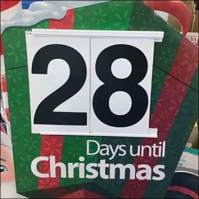 Retail Counts Down Days 'Til Christmas