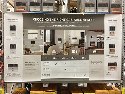 Gas Heater Selection Guide Wall Poster