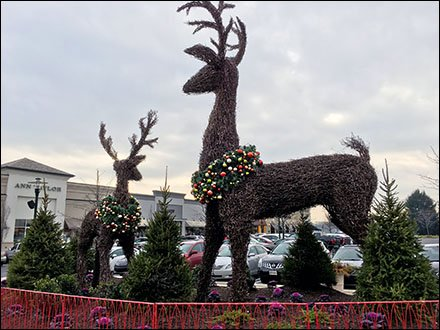 Giant Reindeer Topiary Christmas Decoration Theme
